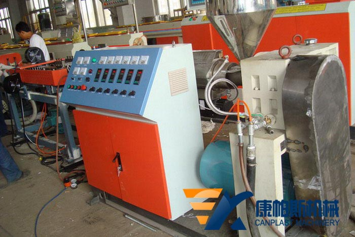 PE-PVC single wall corrugated pipe production line