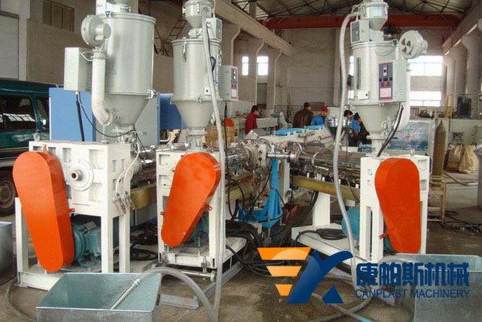 HDPE silicon core pipe extrusion line
