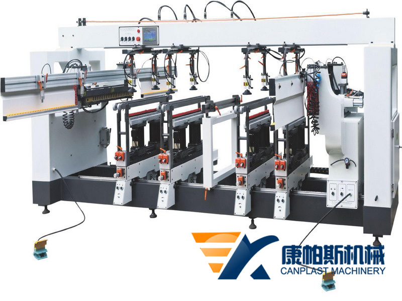 CNC multi-row drilling