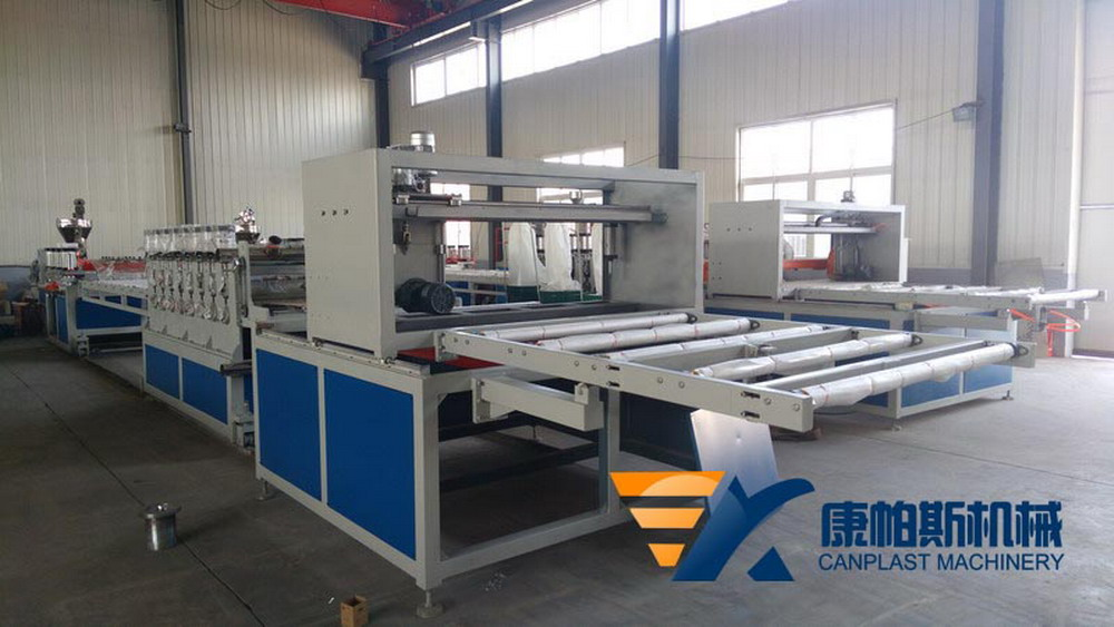 PVC crust foamed board production lin
